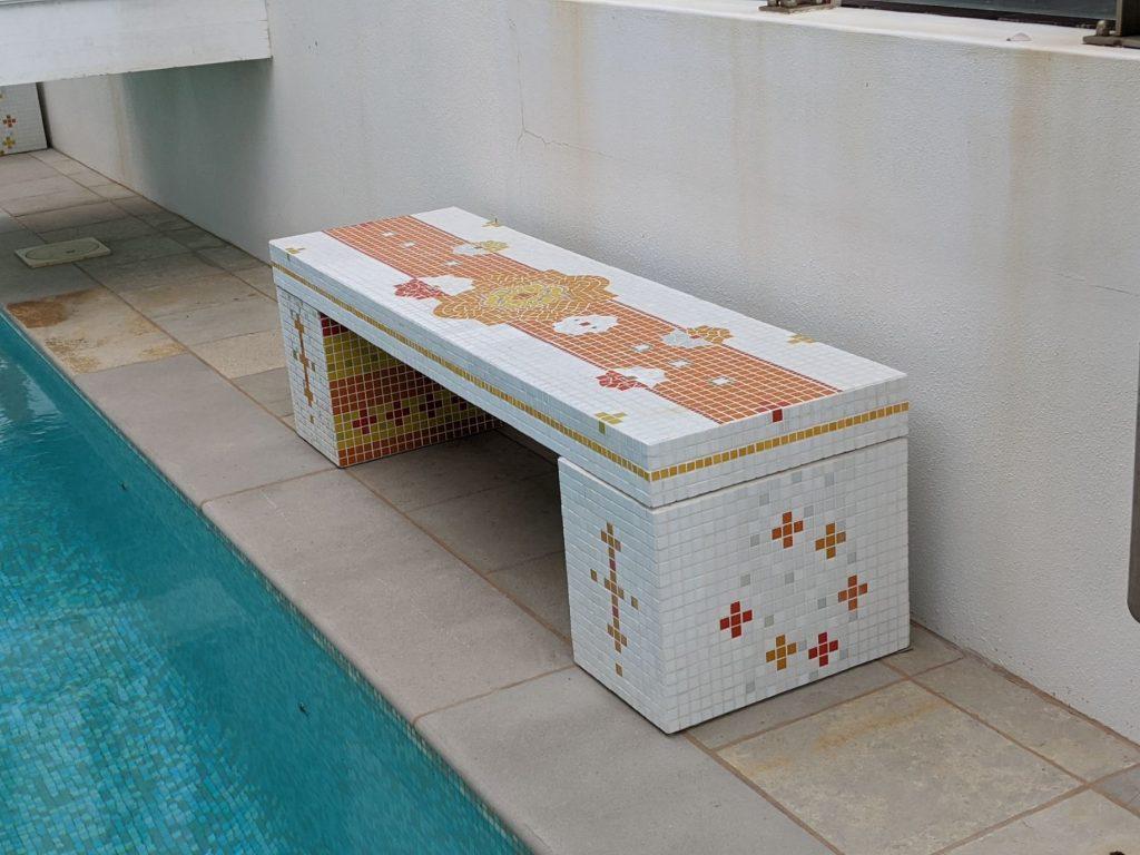 mosaic bench- Persian theme